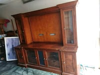 Extra large entertainment center solid wood Las Vegas, 89110