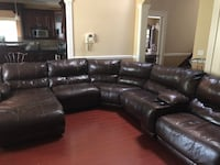 L shaped leather couch  Surrey, V3S 5P1