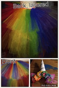 Rainbow tutu /unicorn headband  Fresno, 93722