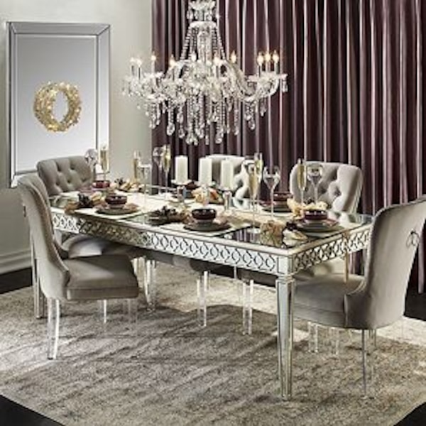 Z Gallerie Sophie Mirrored Dining Table Set Usado En Venta En