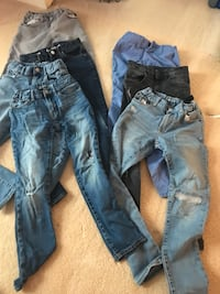 two blue denim jeans and two gray pants Great Falls, 22066