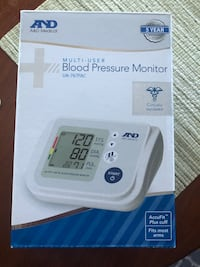 New in Box A&D Medical Upper Arm Blood Pressure Monitor