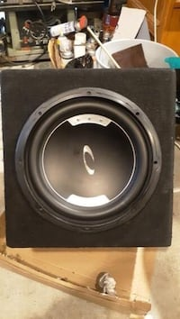 Power Acoustik Amplifier w/ 12inch sub and box
