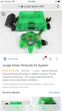 Jungle green Nintendo 64 Arlington, 76010
