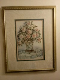 brown wooden framed painting of flowers Cleveland, 37311
