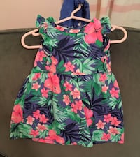 Baby girls 12 month floral pattern dress with diaper cover