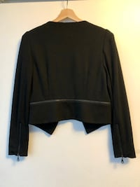 PHILOSOPHY Black Cropped Zipper Blazer in Women's Size Small TORONTO