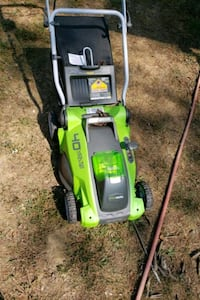 green works battery mower, new just needs battery. Winchester, 40391