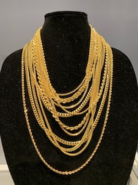 10K Italian Gold Chain Necklaces and Bracelets