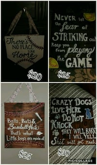 Handmade wooden signs. Prices vary can do custom! Griswold, 06351