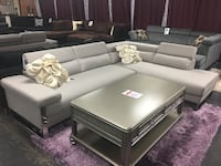 Sectional with headrest only. Brand new.