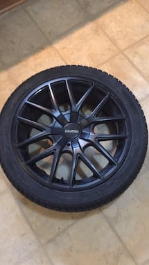 Black rims and Winter tires