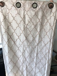 """84"""" curtain panels, curtain rods with all hardware 62 mi"""