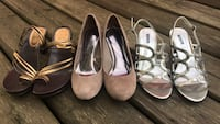 women's two pairs of brown and black pumps Addington Highlands, K0H