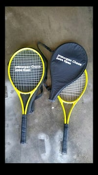 yellow and black tennis rackets Los Angeles, 90018