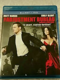 The Adjustment Bureau Blu-Ray DVD case Guelph, N1H 1H5