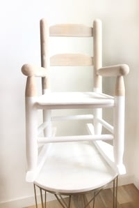 Children's rocking chair, refurbished, boho, minimalistic,natural,wood Minneapolis, 55402