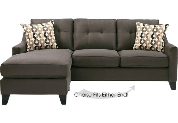 Cindy Crawford Home Madison Place Slate 2 Pc Sectional Couch Sleeper Sofa