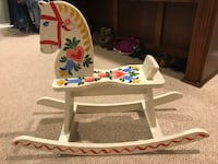 Antique wooden children's rocker horse Suwanee, 30024