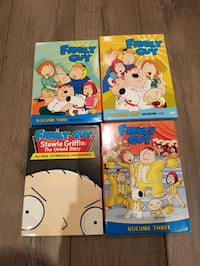 Family Guy season 1 - 3 plus Stevie movie dvds