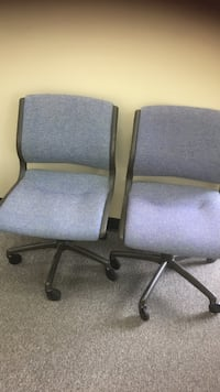 two gray padded rolling chairs Montgomery, 36106