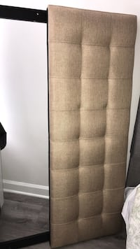 Beige/ oatmeal color fabric headboard for Queen. Adjustable height  Arlington, 22206