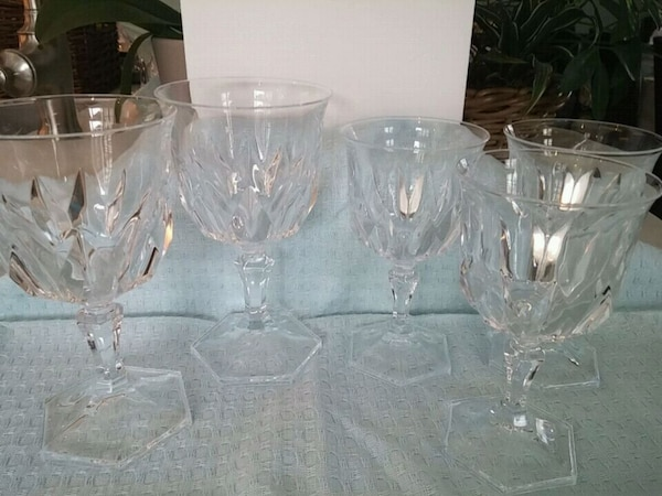 clear cut glass footed bowl