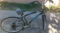 black and blue hardtail mountain bike Santa Ana, 92707