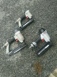 two gray and black air impact wrenches
