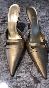 Leather Slip On Heels Size 7