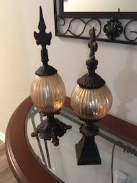 Vintage glass and metal balls 309 mi