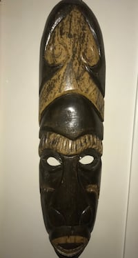 African Mask ( Description Below ;) Whiting, 08759