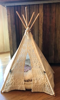Small dog teepee with dog bed and blanket  Walden, 12586