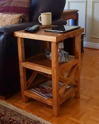 Rustic X Side Table Toronto, M9W 3X7