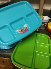 two green and blue plastic containers 141 mi