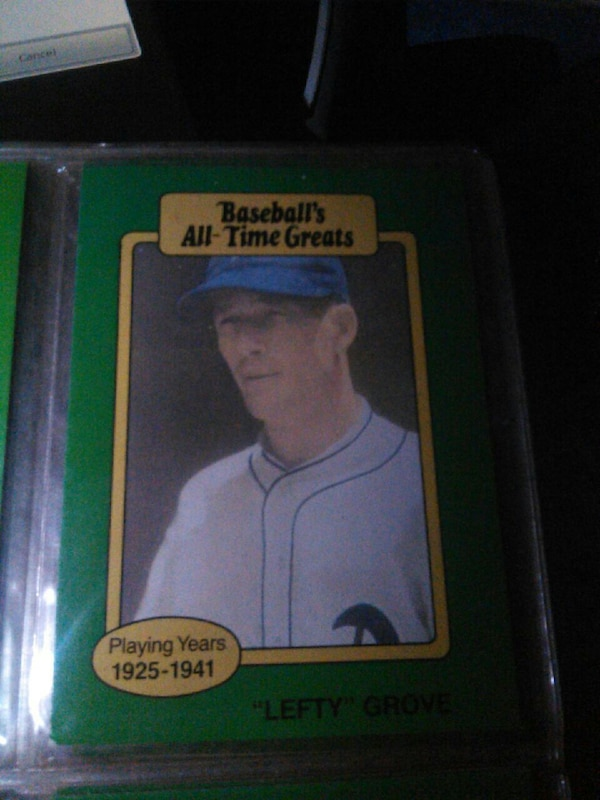 Used 1925 1941 Baseballs All Time Greats Lefty Grove Trading Card