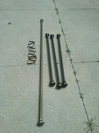 3 6ft curtain rods and 1 12ft rod w/hardware Akron, 44314