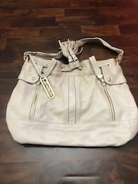 women's gray leather hobo bag