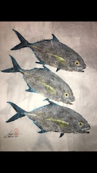 Original Gyotaku fish prints ʻEwa Beach, 96706