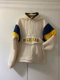 Starter Michigan Wolverines Retro NCAA Collage Hoodie / Mont f1f2f966-c621-4d6d-aed0-1bbb2045109a