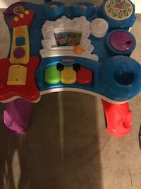 blue, red and yellow Playskool musical learning table 363 mi