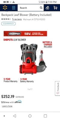 Brand new snapper 58 volt mower and back pack blow York Haven, 17370