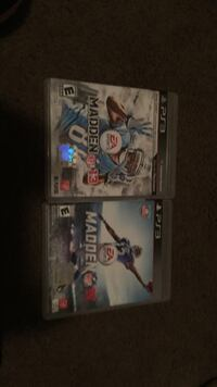 two Madden NFL PS3 CD game cases Fort Atkinson, 53538
