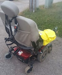 black and red electric wheelchair