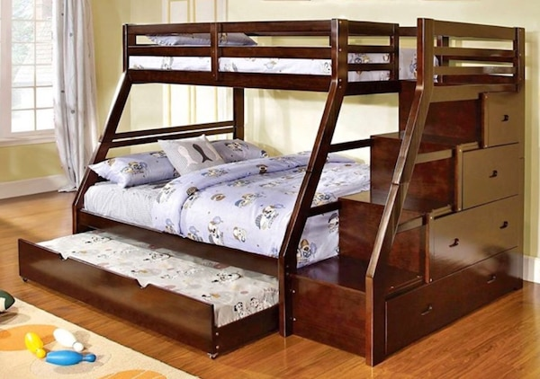 Used Pending Pick Up Real Wood Bunk Beds Stairs And Drawers For Sale
