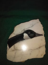 Painted duck on marble
