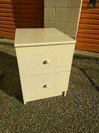 2 drawer white side table/night stand Oakville, L6H