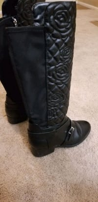 Girl's Vince Camuto Black Riding Boots size 4