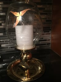 Brass and edged glass candle lamp - Partylite brand Mississauga, L5K 1L5