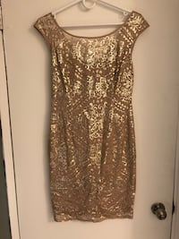 Women's gold sequin dress  Edmonton, T6E 1V7